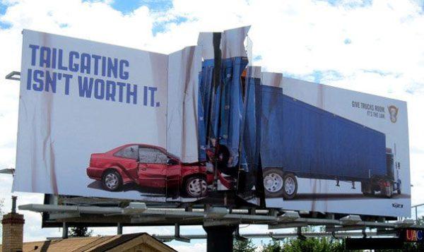 лучшая автомобильная социальная наружная реклама